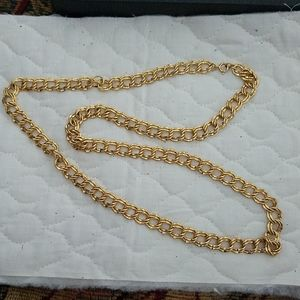 30 inch double link gold metal necklace